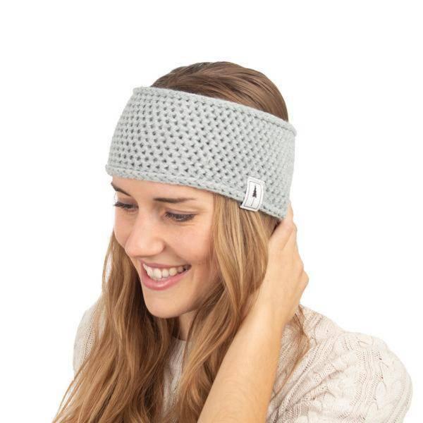 Headband Knitted light grey me