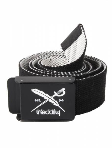Flip The Side Belt black/white
