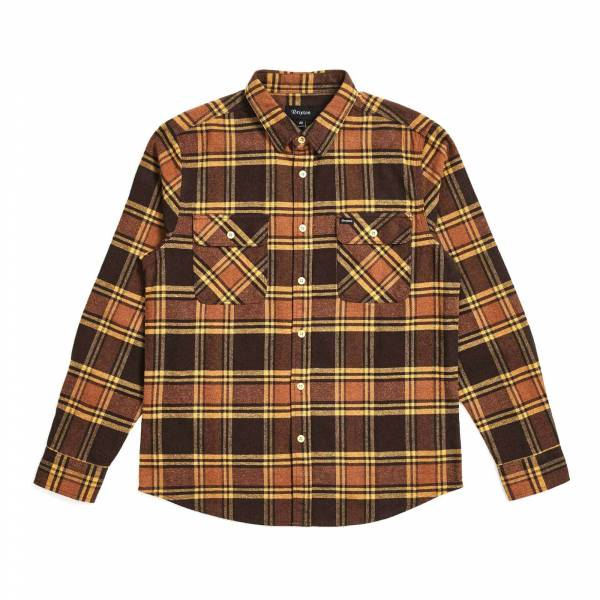 Bowery LS Flannel Brown Gold