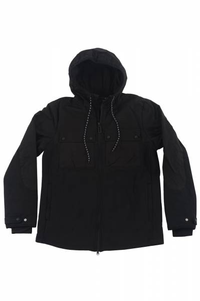 Quilted DWR Zip Up Black